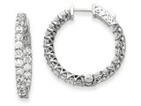 14k White Gold Round Hoop W/saftey Clasp Earring Mountings style: XE2009W