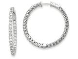 14k White Gold Round Hoop W/saftey Clasp Earring Mountings style: XE2010W