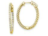 14k Oval Hoop W/saftey Clasp Earring Mountings style: XE2019