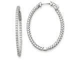 14k White Gold Oval Hoop W/saftey Clasp Earring Mountings style: XE2020W