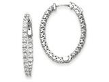 14k White Gold Oval Hoop W/saftey Clasp Earring Mountings style: XE2023W