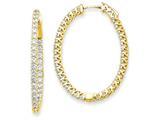 14k Oval Hoop W/saftey Clasp Earring Mountings style: XE2024