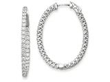 14k White Gold Oval Hoop W/saftey Clasp Earring Mountings style: XE2024W