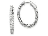 14k White Gold Oval Hoop W/saftey Clasp Earring Mountings style: XE2025W