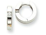 14k White Gold 2-2.7mm Round Hinged Hoop Earring Mountings style: XE218