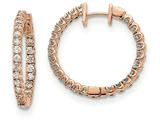 14k Rose Round Hinged Hoop Earring Mountings style: XE2915