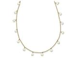 17 Inch 14k F.w. Cultured F.w. Cultured Pearl And Cable Chain Necklace style: XF56517
