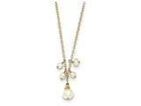14 Inch 14k F.w. Cultured F.w. Cultured Pearl And Cable Chain W/1 In Ext Necklace style: XF56614