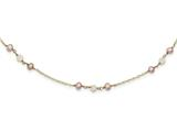 14 Inch 14k F.w. Cultured F.w. Cultured Pearl and Rose Quartz W/cable Chain 1 In Ext style: XF58314