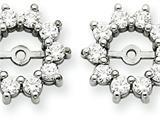 14k White Gold Diamond Earring Jacket Mountings style: XJ1W