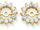 14k Diamond Earring Jacket Mountings style: XJ2
