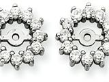 14k White Gold Diamond Earring Jacket Mountings style: XJ2W