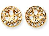 14k Diamond Earring Jacket Mountings style: XJ34