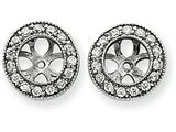 14k White Gold Diamond Earring Jacket Mountings style: XJ34W