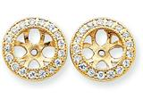 14k Diamond Earring Jacket Mountings style: XJ35