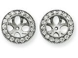 14k White Gold Diamond Earring Jacket Mountings style: XJ35W