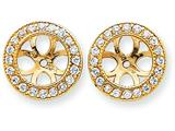 14k Diamond Earring Jacket Mountings style: XJ36