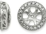 14k White Gold Diamond Earring Jacket Mountings style: XJ36W
