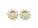 14k Diamond Earring Jacket Mountings style: XJ3