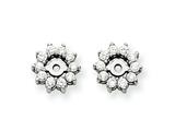 14k White Gold Diamond Earring Jacket Mountings style: XJ3W