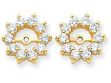 14k Diamond Earring Jacket Mountings style: XJ46