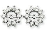 14k White Gold Diamond Earring Jacket Mountings style: XJ46W