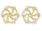 14k Diamond Earring Jacket Mountings style: XJ47