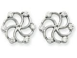 14k White Gold Diamond Earring Jacket Mountings style: XJ47W