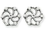 14k White Gold Diamond Earring Jacket Mountings style: XJ5W
