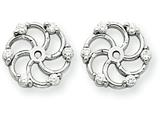 14k White Gold Diamond Earring Jacket Mountings style: XJ6W