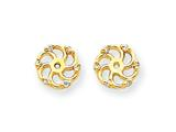 14k Diamond Earring Jacket Mountings style: XJ7