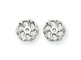 14k White Gold Diamond Earring Jacket Mountings style: XJ7W