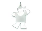 Sterling Silver Kiss Kid Charm style: XK1226SS