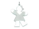 Sterling Silver Kiss Kid Charm style: XK1230SS