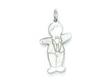 Sterling Silver Suit Up Cuddle Charm style: XK1785SS