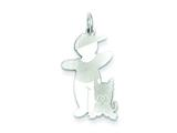 Sterling Silver Woof Cuddle Charm style: XK1806SS
