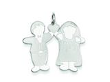 Sterling Silver Wedded Bliss Cuddle Charm style: XK1843SS