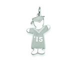 Sterling Silver Class Of 2015 Boy Cuddle Charm style: XK1959SS