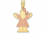 The Kids Small Girl with Bow on Right Engraveable Charm / Pendant