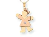 The Kids® Diamond kid Charm / Pendant style: XK498AA