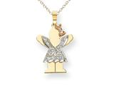 The Kids 0.15cttw Diamond kid Charm / Pendant