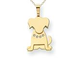 The Kids® Dog with (0.03 cttw) Diamond Collar Charm / Pendant