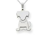The Kids Dog with (0.03 cttw) Diamond Collar Charm / Pendant