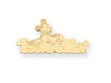 Personalized Disney Mickey Mouse Nameplate (up to 9 Letters) - Chain Included style: XNA464GP