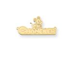 Personalized Disney Mickey Mouse Nameplate (up to 9 Letters) - Chain Included style: XNA465GP