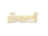 Personalized Disney Jasmine Nameplate (up to 9 Letters) - Chain Included