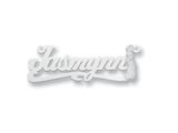 Personalized Disney Jasmine Nameplate (up to 9 Letters) - Chain Included style: XNA471W