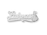 Personalized Disney Snow White Nameplate (up to 9 Letters) - Chain Included style: XNA479SS
