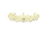 Personalized Disney Cinderella Nameplate (up to 9 Letters) - Chain Included style: XNA488GP