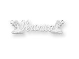 Personalized Disney Belle Nameplate (up to 9 Letters) - Chain Included style: XNA490SS